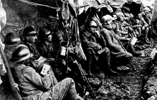 in trincea durante la prima guerra mondiale