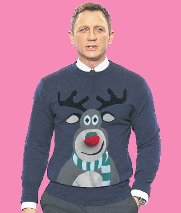 Daniel Craig con un Christmas jumper