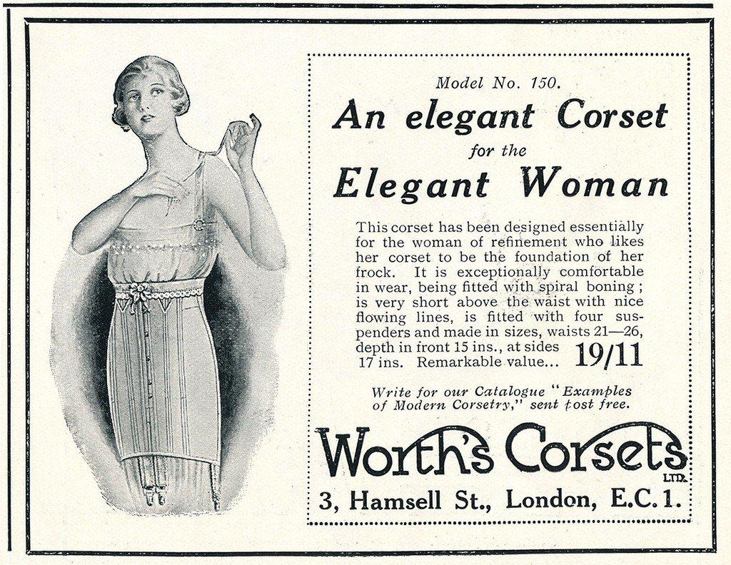 pubblicità di un corsetto