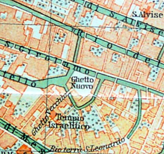 La mappa del Ghetto di Venezia