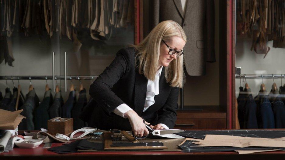 Una donna nella maschilissima Savile Row
