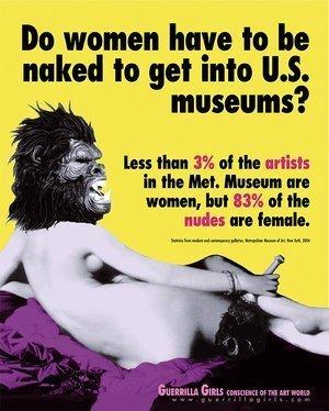 Dove sono le donne artiste nei musei europei? Appese alle pareti. Possibilmente nude.