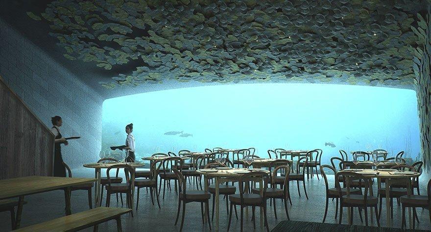 A cena sotto il mare del Nord