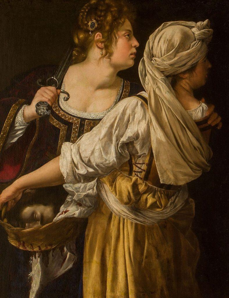 Artemisia Gentileschi, 'Judith and her Maidservant', about 1615-17. Galleria Palatina, Palazzo Pitti, Florence (398) © Gabinetto fotografico delle Gallerie degli Uffizi