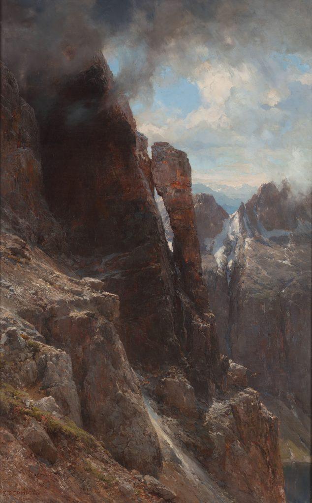 Edward Theodore Compton, Paesaggio delle Dolomiti