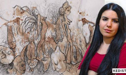 L'artista che dipinge con il sangue